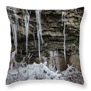 Eagle Rock Icicles 3 Throw Pillow