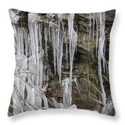 Eagle Rock Icicles Throw Pillow
