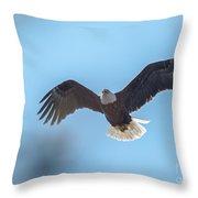 Eagle Through The Trees Throw Pillow