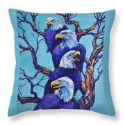 Eagle Tree Throw Pillow