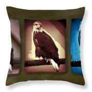 Eagle Triad Throw Pillow
