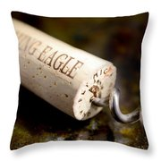 Eagle Uncorked  Throw Pillow