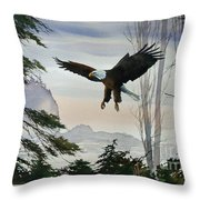 Eagle Wilderness Throw Pillow