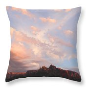 Eagles Crags  Throw Pillow