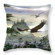 Eagles Flight Throw Pillow