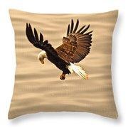 Eagles Pause Throw Pillow