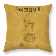 Eames Chair Patent 1 Throw Pillow