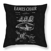 Eames Chair Patent 4 Throw Pillow