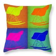 Eames Rocking Chair Pop Art 1 Throw Pillow