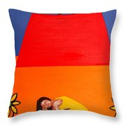 Ear To The Ground Throw Pillow