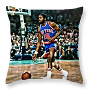 Earl Monroe Throw Pillow by Florian Rodarte