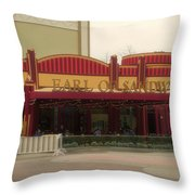 Earl Of Sandwich Downtown Disneyland Throw Pillow