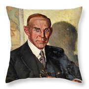 Earl Of Selborne Artist William Little  Throw Pillow