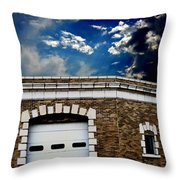 Early 1900s St. Louis Firehouse Throw Pillow
