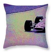 Early 60's Era Formula 1 Race Throw Pillow