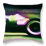 Early 60's F1 Racer Throw Pillow