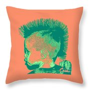Early Ancestry Micro Me Portrait 12 Throw Pillow