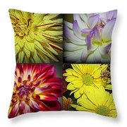 Early Autumn Blossoms Throw Pillow