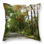 Early Autumn Drive Throw Pillow