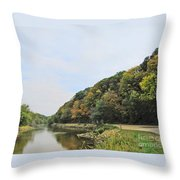 Early Autumn In Iowa Throw Pillow