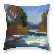 Early Autumn Snow Throw Pillow