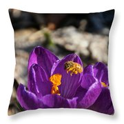 Early Bee Throw Pillow
