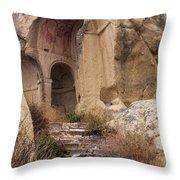 Early Christian Monastery  Throw Pillow