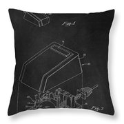 Early Computer Mouse Patent 1984 Throw Pillow