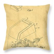 Early Computer Mouse Patent Yellowed Paper Throw Pillow