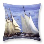 Early Contenders Throw Pillow