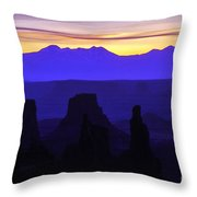 Early Dawn At Mesa Arch Overlook Throw Pillow