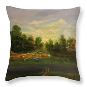 Early Departure Throw Pillow