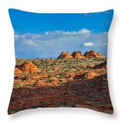 Early Evening Light At Coyote Buttes Throw Pillow