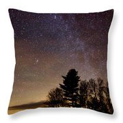 Early Evening Milky Way Throw Pillow by Steven Valkenberg