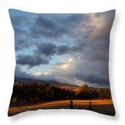 Early Evening Near Ashland Throw Pillow