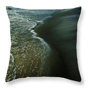Early Evening Surf Throw Pillow
