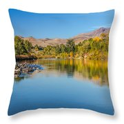 Early Fall On The Payette Throw Pillow by Robert Bales