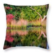 Early Fall Reflection Throw Pillow