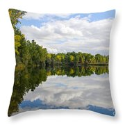 Early Fall Reflections Throw Pillow