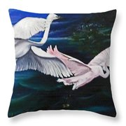 Early Flight Throw Pillow by Karin  Dawn Kelshall- Best