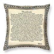 Early Gothic Style Desiderata Throw Pillow