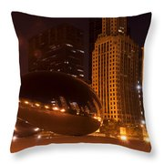 Early Hours In Chicago Throw Pillow