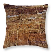 Early Indian Drawings Throw Pillow