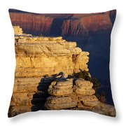 Early Light In The Canyon Throw Pillow