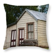 Early Miner's House Throw Pillow