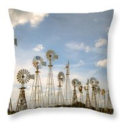 Early Model Wind Farm Throw Pillow