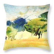 Early Morning 62 Throw Pillow