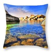 Early Morning At Lake Tahoe Throw Pillow
