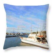 Early Morning At Maalaea Marina Throw Pillow
