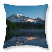 Early Morning At Mount Rainier Throw Pillow
